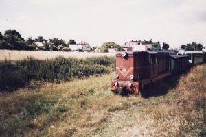 Lxd2-313 mija towarową część stacji Witkowo.