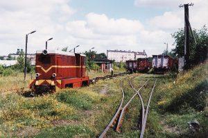 Bierząca praca manewrowa wykonywana przez lokomotywy Lxd2-313 i Lxd2-369.