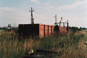 Wagon węglarka Wddx - ta, która cztery lata temu objechała całą sieć Kolei Kujawskich.