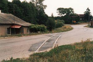 Tor w kierunku Sompolna, formalnie początek Sompoleńskiej Kolei Dojazdowej.