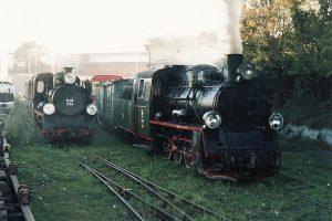 Oba pociągi przygotowane do odjazdu.