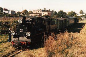 Widok z rampy na nasz pociąg.