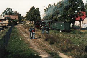 Manewry na stacji w Powdzu.