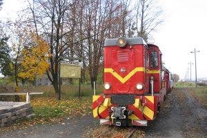 Pociąg z Karczmirsk prowadzony Lxd2-297.