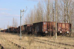 Lublin Północny - porzucone wagony towarowe.