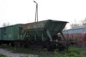Skreślony wagon samowyładowczy.