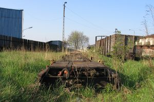 Dość ciekawe transportery Tddyyhp służące przewozom cystern, przez długi czas stacjonujących na stacji w Witkowie.