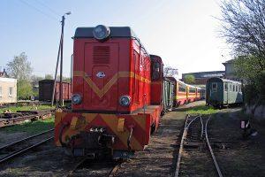 Pochodząca z Sompolna Lxd-343 formuje skład pociągu.