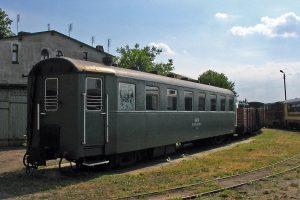 Wagon 3Aw w składzie pociągu rozbiórkowego.