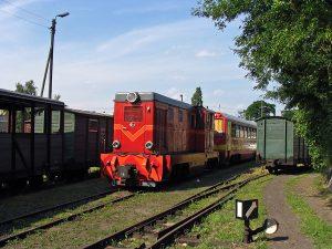 Lokomotywa Lxd2-369 z pociągiem specjalnym.
