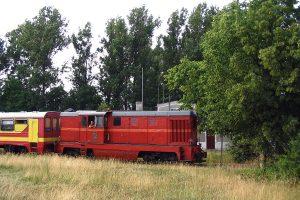 Lxd2-369 na tle witkowskiego dworca.