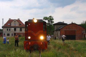 Pociąg prowadzony Lxd2-369 na stacji Anastazewo.