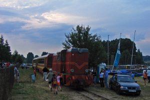 Zmierzch na stacji Przybrodzin.