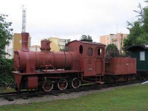 Parowóz Py4-741 ze Żnińskiej Kolei Dojazdowej.