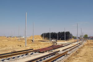 Budowa nowej krańcówki Chocianowice - Ikea.