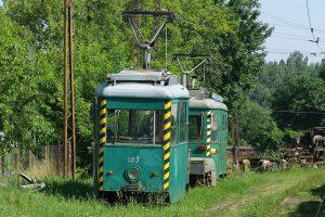 Zajezdnia Brus - wagony Tramwajów Podmiejskich #103i #101.