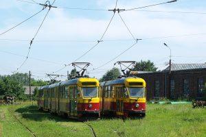 Zajezdnia Brus - wagony Tramwajów Podmiejskich #7 i #5.