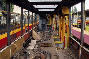 Zdemontowane wnętrze wagony #2311.
