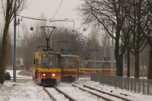 Łódź, ul. Pomorska -  na dworzec jadę osiemsetzłomką #1702 + #1703.
