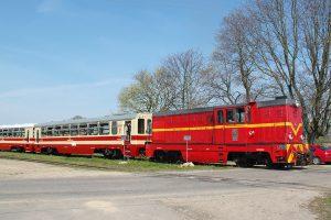 Przejazd kolejowy w Głuchowie.