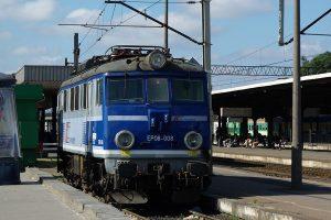 Poznań Główny - lokomotywa EP08-008.
