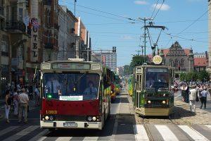 Parada pojazdów MPK Poznań.