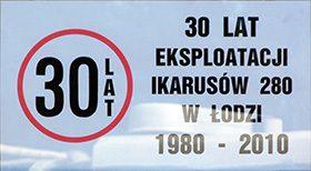 30 lat eksploatacji Ikarusów 280 w Łodzi.