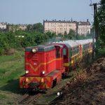 Lxd2-343 z pociągiem ogólnodostępnym.