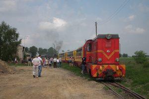 Dwa pociągi na stacji Niechanowo.