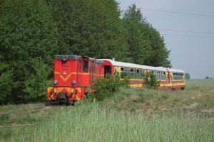 Lxd2-343 z pociągiem ogólnodostępnym w Ługach.