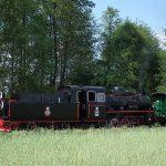 Px48-1919 z pociągiem historycznym w Ługach.