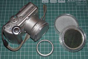 """Gotowy aparat wraz z popularnym w swoich czasach tzw """"zestawem zaawansowanym""""."""