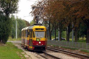 Konstal 803N Tramwajów Podmiejskich jako 43/2 - mój środek transportu na miejsce zbiórki.