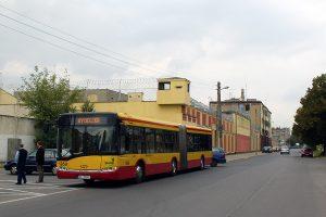 Solaris #1850 pod zlikwidowaną Zajezdnią Kraszewskiego.