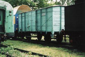 Wagon kryty z przełomu XIX i XX wieku.
