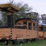 Wagony techniczne #109 i #108 z Międzygminnej Komunikacji Tramwajowej.