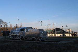 Parowóz Px48-1783 jako instalacja artystyczna.