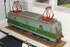 Model lokomotywy elektrycznej ET21.