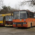 """""""Bizon"""" - Ikarus 280 #RV50, """"Mig"""" Jecz M11 #BV05 oraz Jelcz PR110U #BV07."""