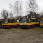 Przeznaczone do kasacji - Jecz M11 #2904, Ikarus 280 #2096, Ikarus 280 #1553 (sprawny!!!) oraz Mercedes O405N #1756 (również sprawny!!!).