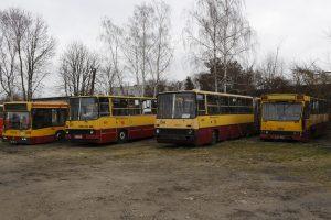 Przeznaczone do kasacji - Jelcz M11 #2904, Ikarus 280 #2096, Ikarus 280 #1553 (sprawny!!!) oraz Mercedes O405N #1756 (również sprawny!!!).