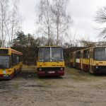 Wszystkie przeznaczone na złom autobusy - #1756, #1553, #2096 i #2904.