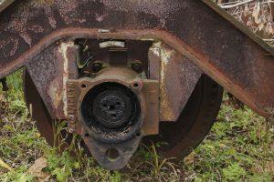 Wózek od wagonów doczepnych typu N.