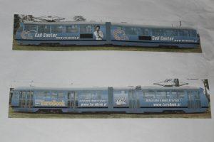 Projekt reklamy z obecnego historycznego wagonu Konstal 803N #2.