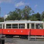 Wagon #282 ustawiony jako pomnik techniki na Placu Kościuszki w Konstantynowie Łódzkim.