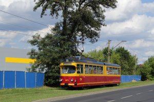 Liniowy #1072 niedaleko mijanki Srebrna w Konstantynowie Łódzkim.