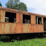 Wrak wagonu motorowego Mbd1-138 .
